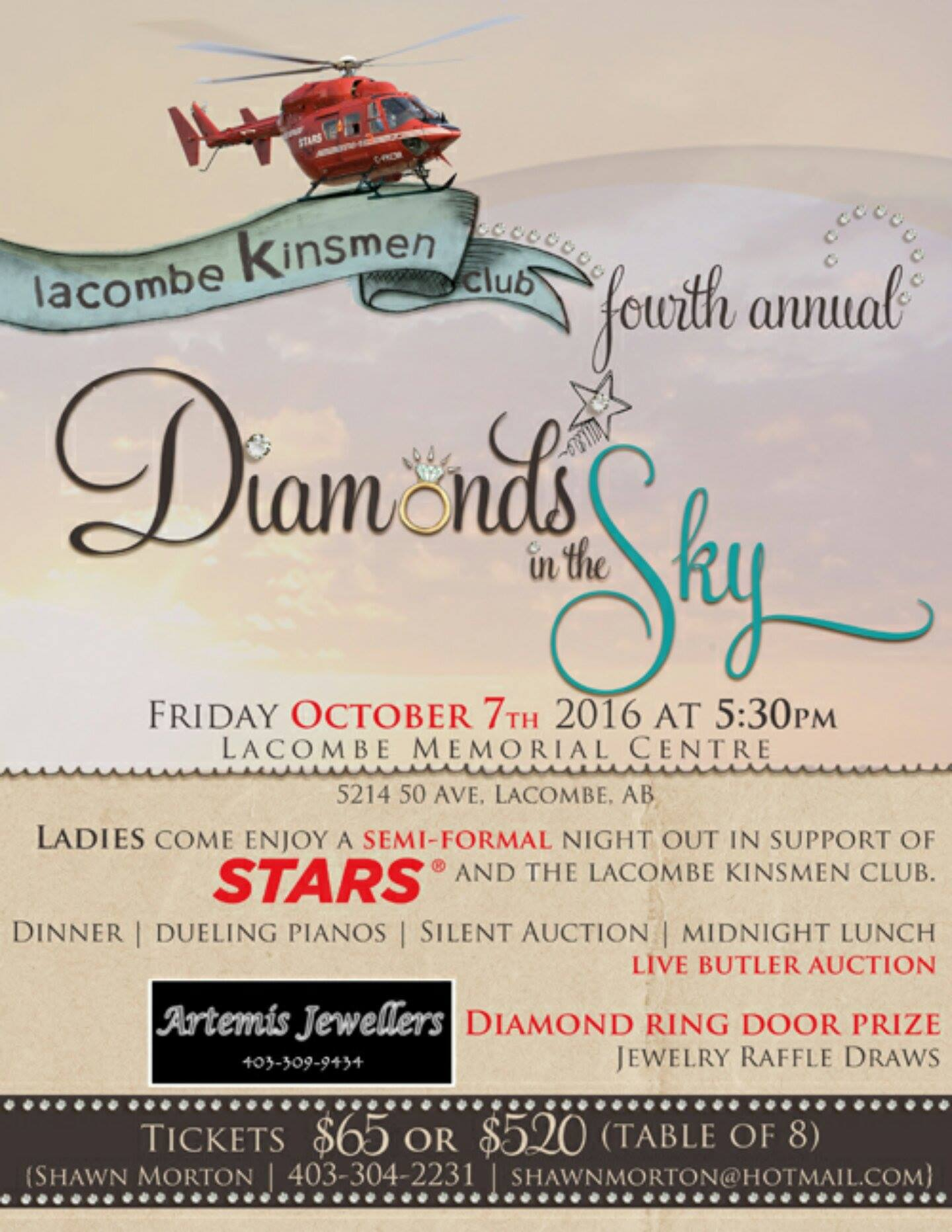 4th Annual Diamonds in the Sky @ Lacombe Memorial Centre | Lacombe | Alberta | Canada