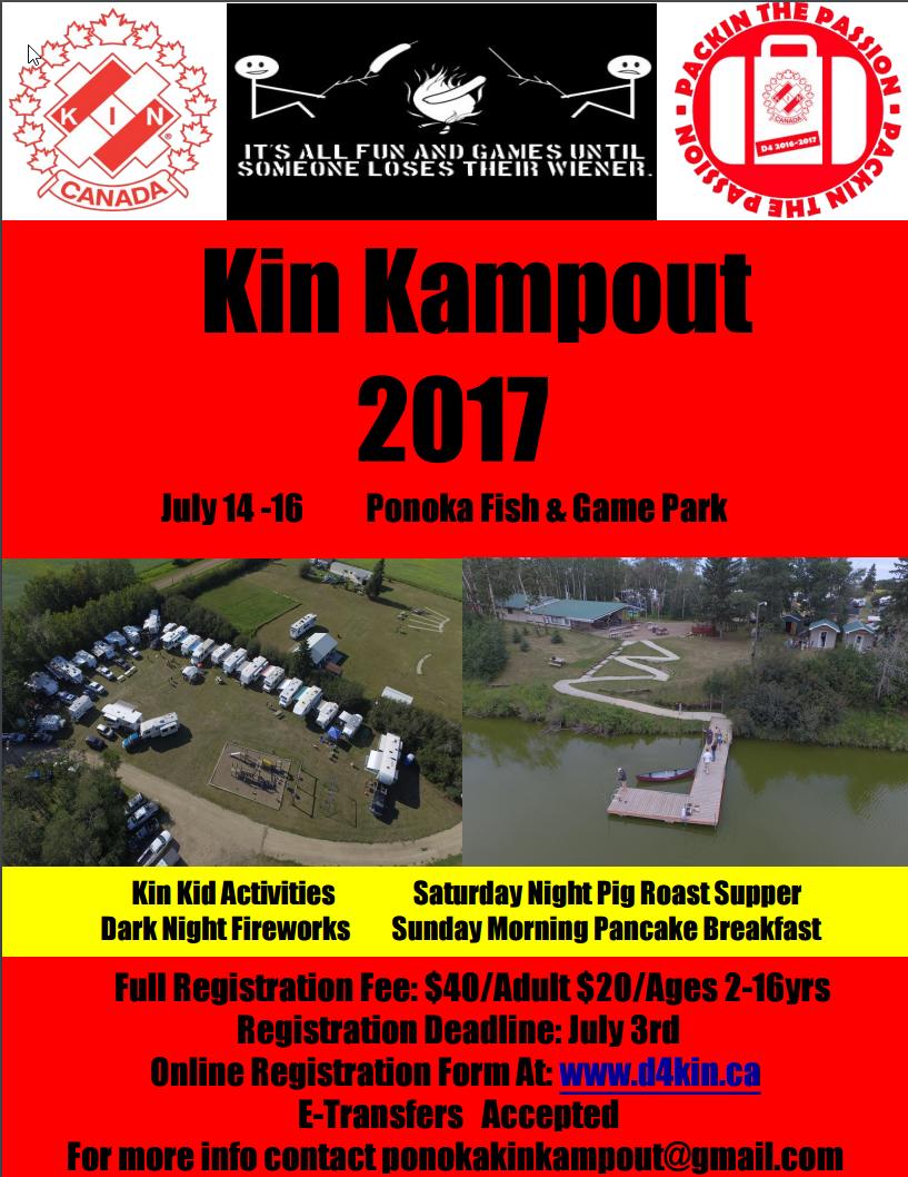 Kin Kampout 2017! @ Ponoka Alberta | Ponoka | Alberta | Canada