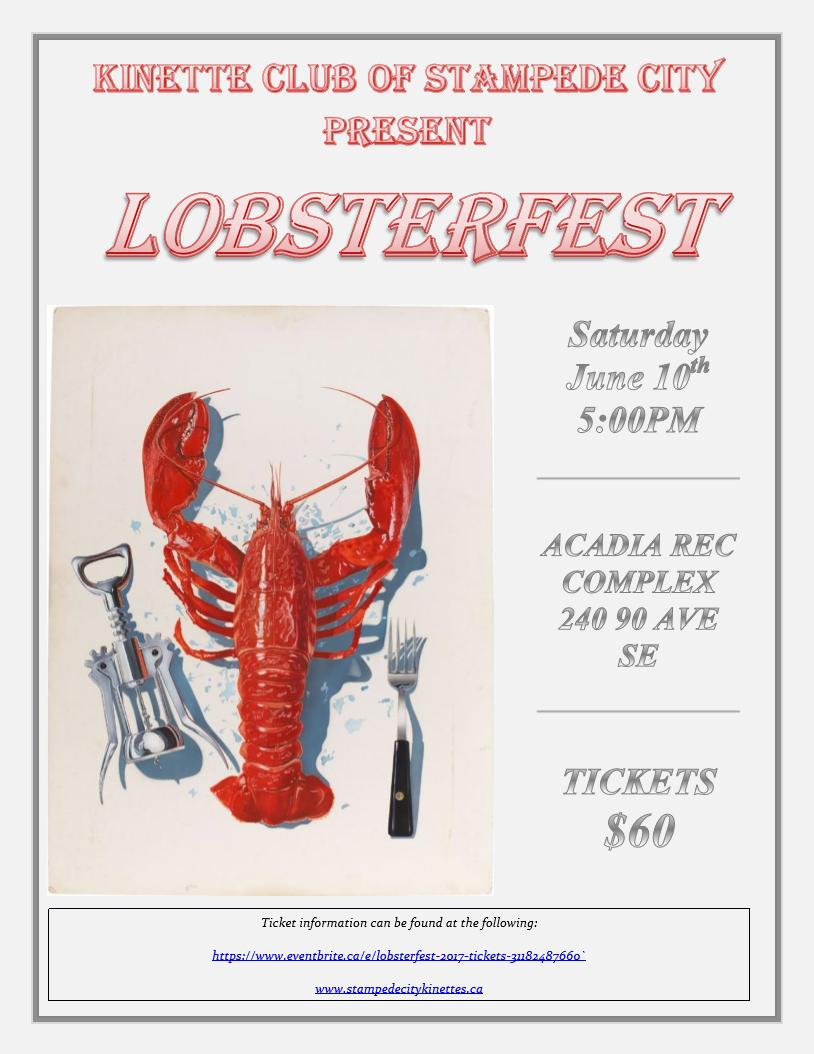 Lobsterfest! @ Acadia Rec Complex | Calgary | Alberta | Canada