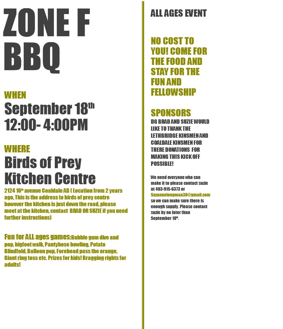 Zone F BBQ @ Birds of Prey Kitchen Centre | Coaldale | Alberta | Canada