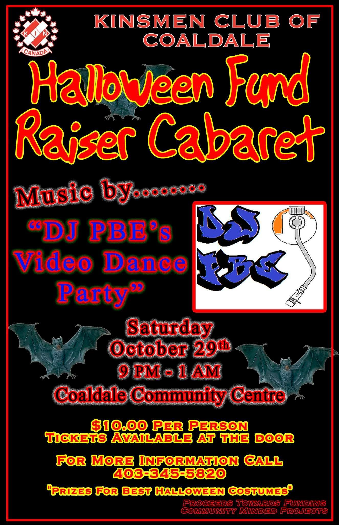 Halloween Fund Raiser Cabaret @ Coaldale Community Center | Coaldale | Alberta | Canada