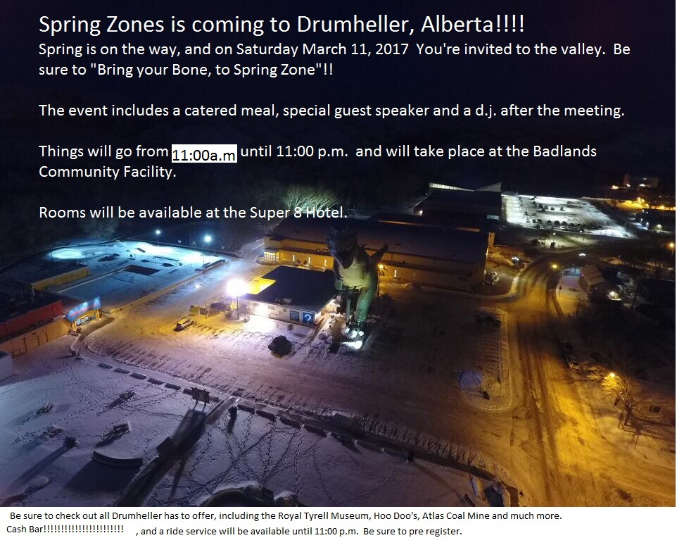 Spring Zones - O Zone! @ Badlands Community Facility, Drumheller